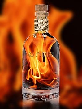 火焰,余燼,火熱瓶