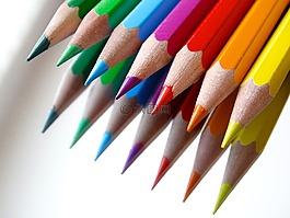 彩色的铅笔,彩色铅笔,镜像