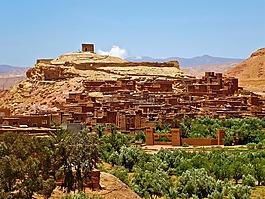 摩洛哥,堡垒,adobe
