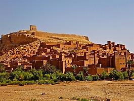 摩洛哥,堡壘,adobe