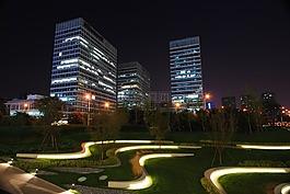 夜景,城市夜景,建筑