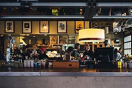 餐廳,酒吧,計數器