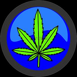大麻,葉,符號