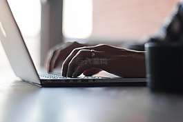 鍵入,工作,筆記本電腦