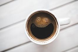 咖啡,杯,快乐