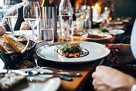 餐廳,食品,午餐