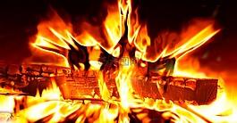 火,火焰,熱
