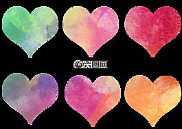心,多彩,水彩