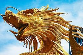 雕塑,龍,龍的頭