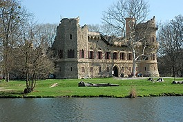 jan?v 城堡,lednice瓦爾季采地區的文化風景區,春天
