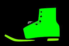 鞋,引導,綠色