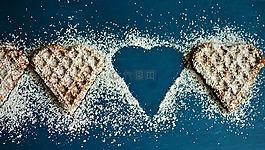 華夫格心,維夫餅干,糖