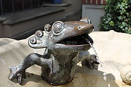 喷泉,雕像,青蛙