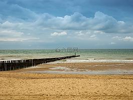 海滩,海,水