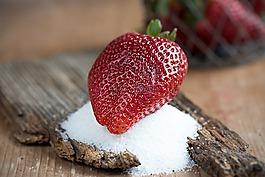 草莓,红色,成熟