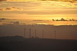 景观,风力发电机组,云计算