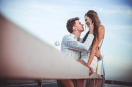 夫妇,爱,一起