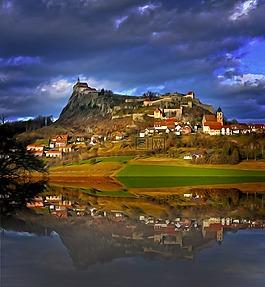 摄影艺术,城堡,景观