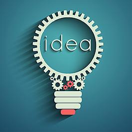 海報 齒輪 燈泡 IDEA 創意