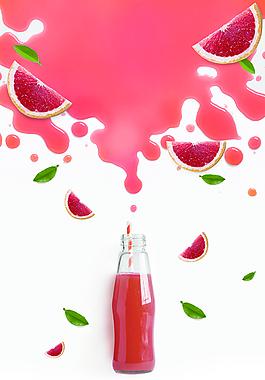 矢量創意簡約夏季果汁飲品背景