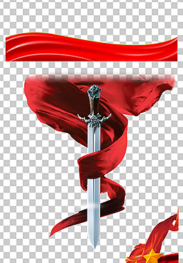 紅綢帶免扣素材