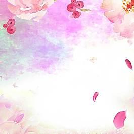 花瓣主圖背景