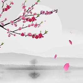 桃花枝主圖背景