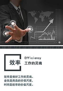 企業文化海報之效率