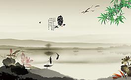 山水廣告設計圖片