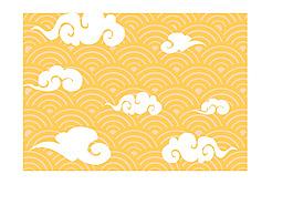 中國風云朵圖案