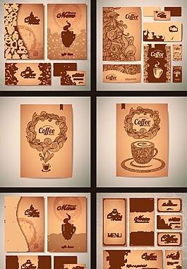 懷舊咖啡廣告矢量素材