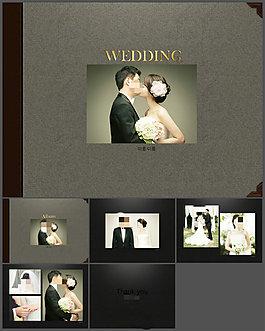 典雅浪漫的結婚紀念冊PPT模板