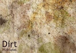 20種污垢紋理素材ABR筆刷高分辨率PS素材下載