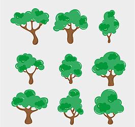手繪樹木素材