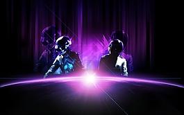 紫色 光線 弧形光線