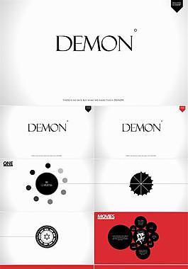 簡潔時尚風設計科技感背景音樂動畫ppt模板