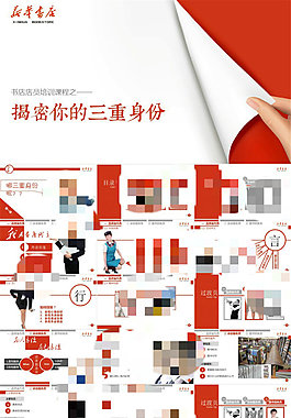 新華書店內部店員培訓課程PPT模板