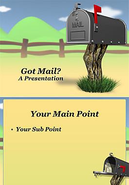 郵箱 信件ppt模板
