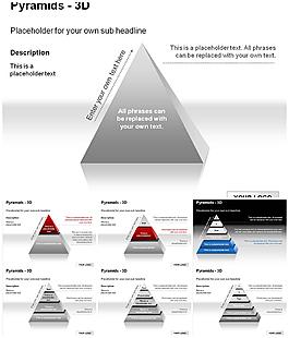 3D金字塔PPT圖表