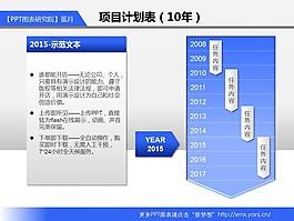 179_項目計劃表(10年_藍色)