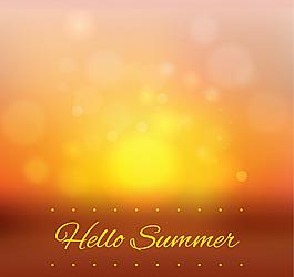 夏季光暈背景