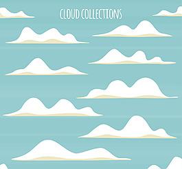 白色矢量云朵