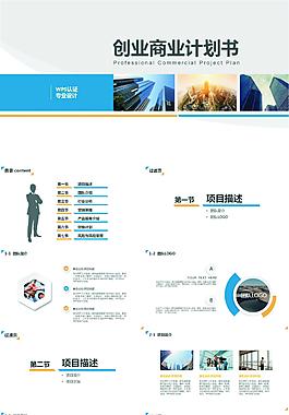 简约【套用性强】创业商业计划书