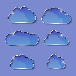 藍色矢量云朵