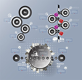 灰色立體圓環圖表圖片2