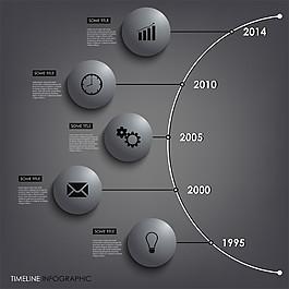 灰色立體圓形圖表圖片