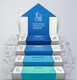 商務成功臺階圖表圖片