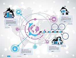 商務網絡地球圖表圖片