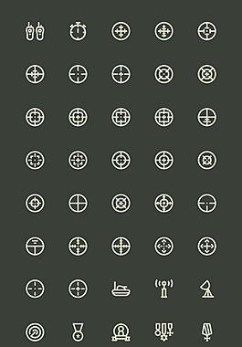 140 枚軍隊徽章元素圖標