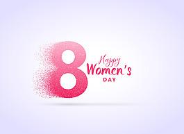 粉紅8婦女節素材